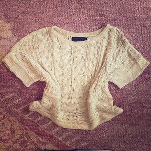 rag & bone loose falling hand-knit linen sweater